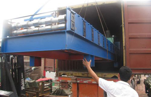 our roll forming machine send to turkey